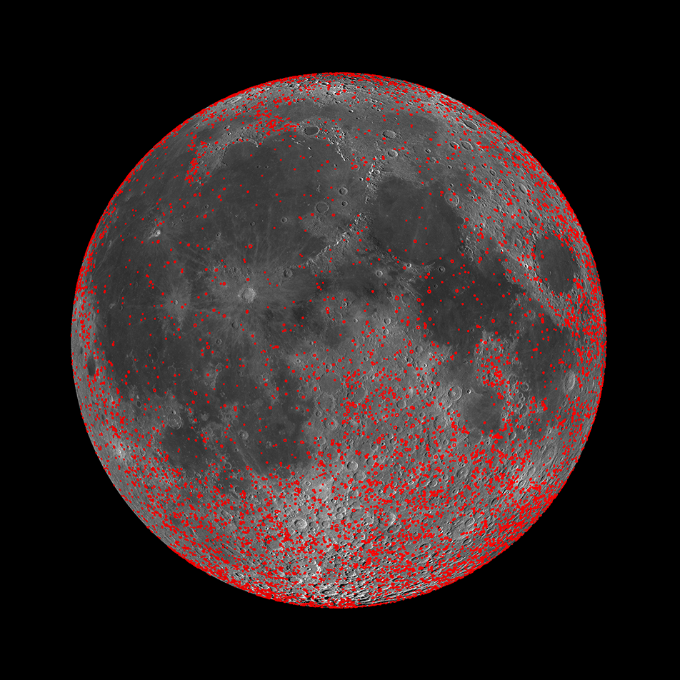 Every Crater on the Moon (Larger than 5 km) | Lunar ...