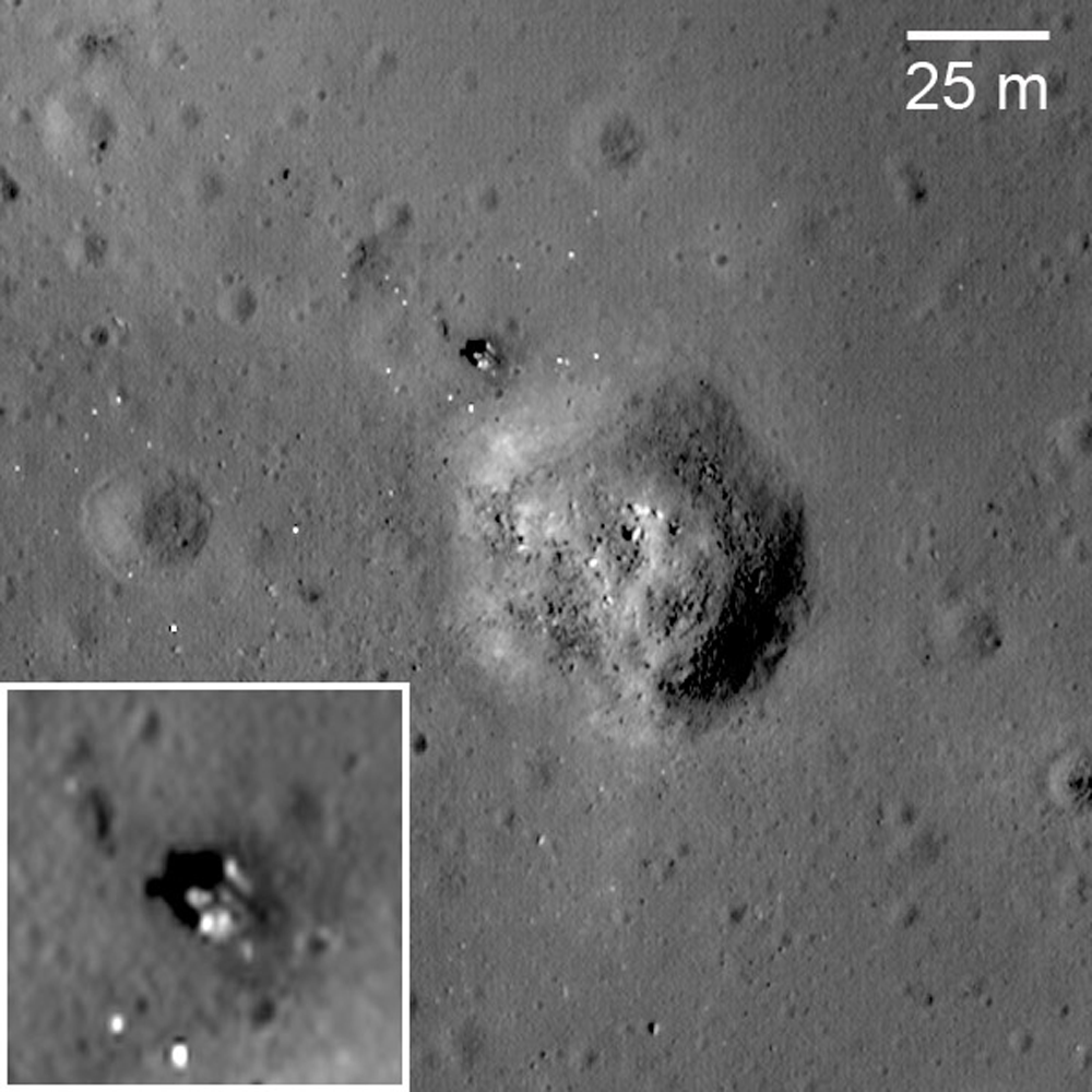 Who and how discovered the moon 7