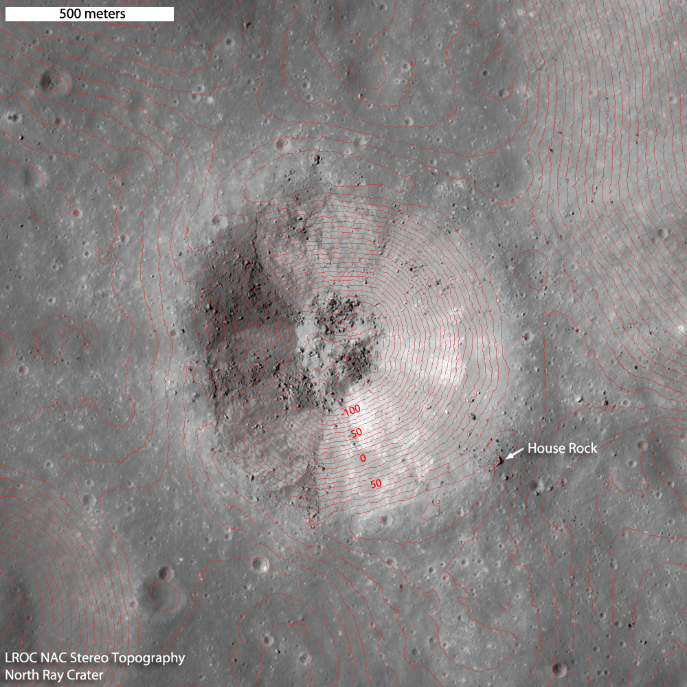 North Ray Crater Topography