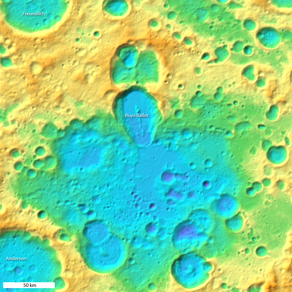Detail from WAC Color Shaded Relief