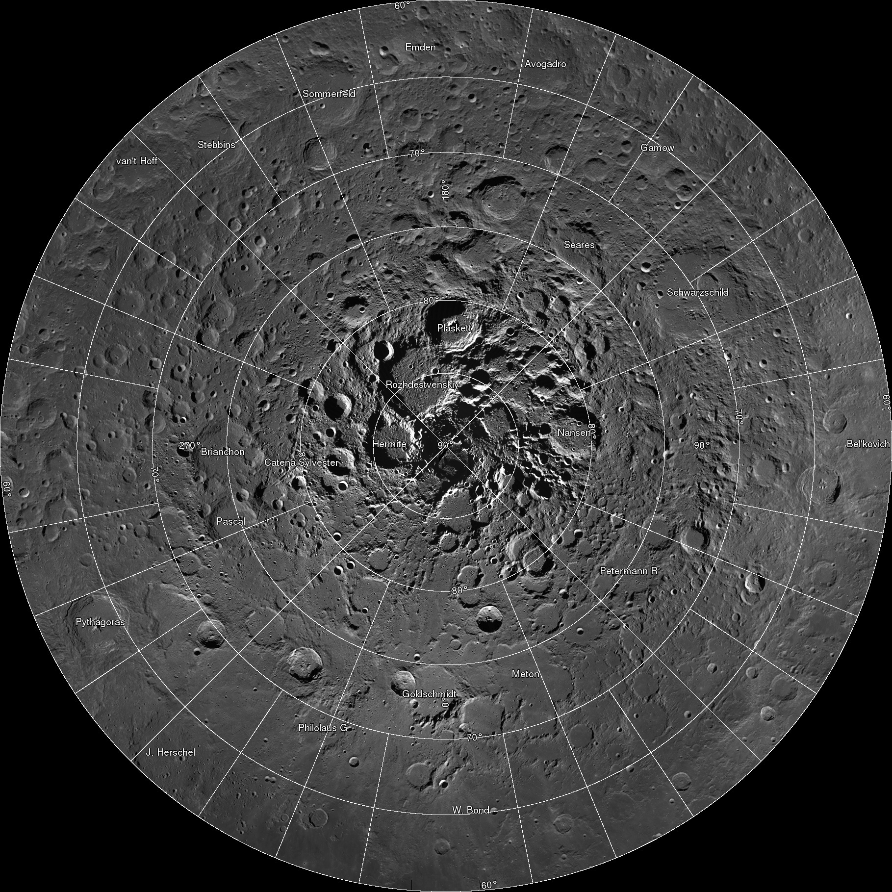 Moon zoom: Explore a huge hi-res mosaic of the moon's ...