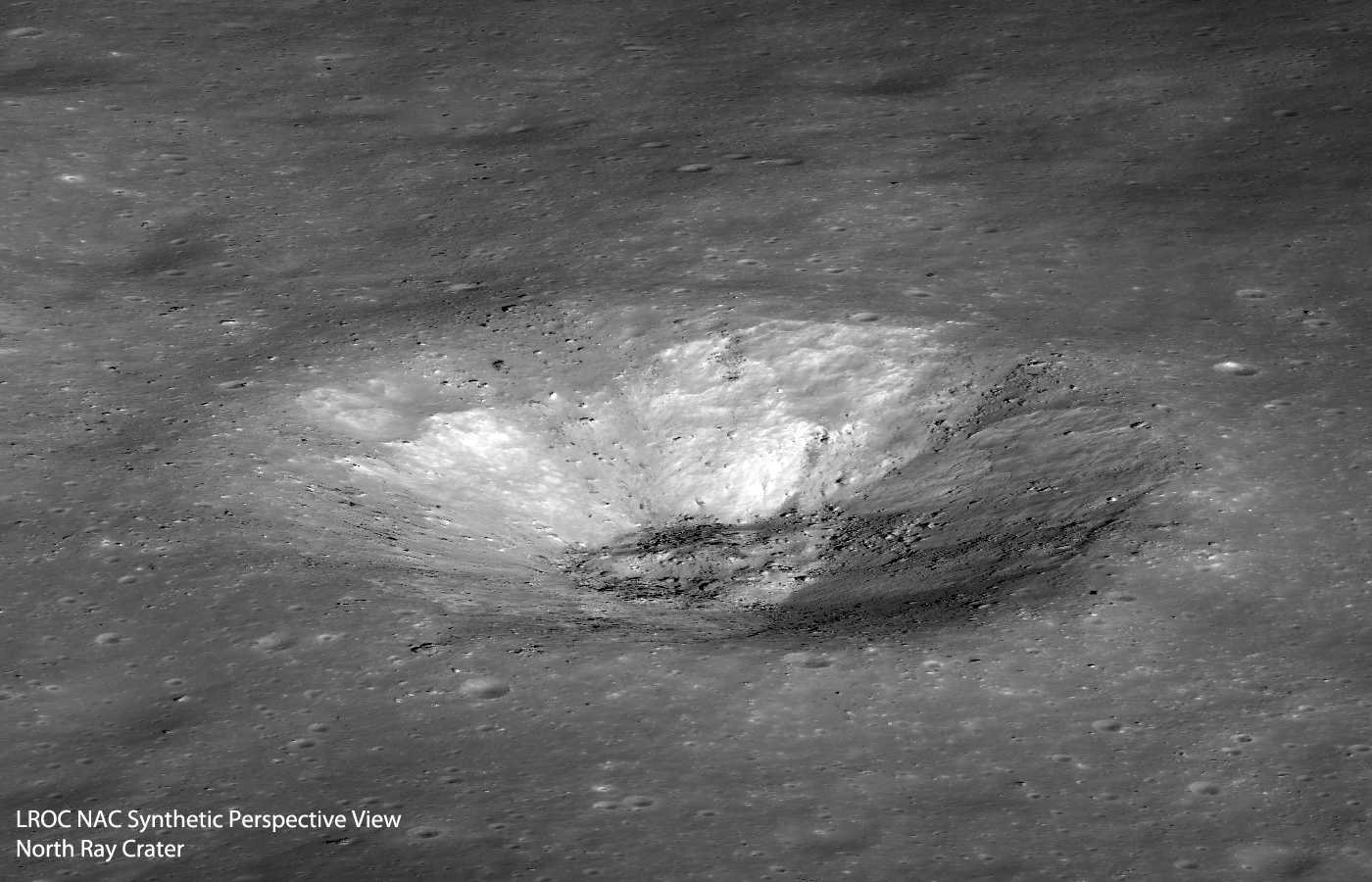 North Ray Crater Perspective N2S